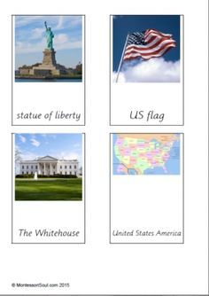 Free USA 3-Part Cards from Montessori Soul