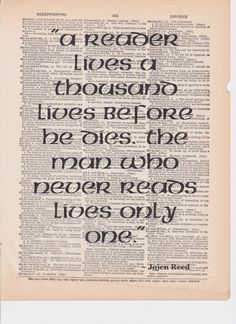 Jojen Reed Quote Vintage Dictionary Art Print A Song by Bagatellia, $8.00