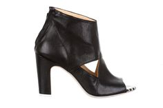 black leather ankle boots - fiorifrancesi
