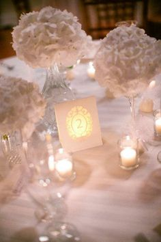 Table Numbers | Habitat Event Planning habitatevents.com #habitatevents #wedding #tables #candles