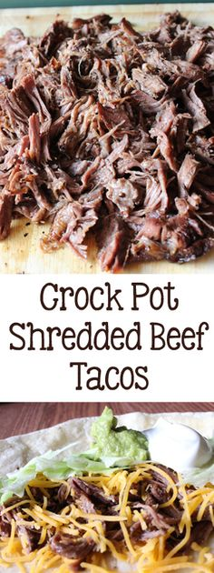 Crockpot Shredded Beef Tacos | Everydaymadefresh.com
