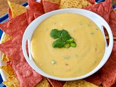 Creamy Chili con Queso - Homemade queso without any processed cheese!!
