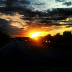M6 sunset on the way home.