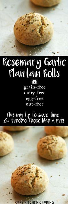 These Paleo/AIP and allergy-friendly rolls were an instant hit in our house! Freeze them uncooked for super easy meal prep!