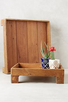 Reclaimed Wood Tray- have padge make this