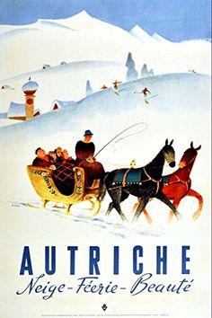 1933 Innsbruck Austria Skiing Competition Poster A4//A3//A2//A1 Print