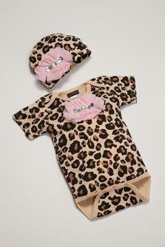 Leopard Print Baby Girl Onesie Set Short Sleeve by jacqueline225, $25.00   best stuff