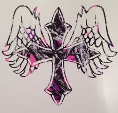 Muddy Girl Pink Camo Angel Cross Truck Vinyl Decal This is pretty awesome! Camouflage Wallpaper, Camo Wallpaper, Country Girl Life, Country Girls, Country Music, New Tattoos, Cool Tattoos, Wing Tattoos, Tatoos