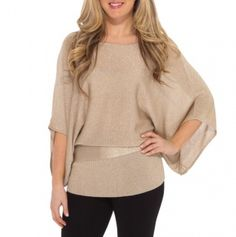 Shimmer Sweater with Self Tie Belt