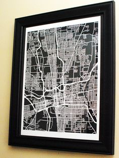 Columbus Cut Map by CutMaps on Etsy, $150.00...love this! By a Columbus artist, too!