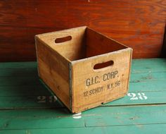 Wood Crate. From BingoBox on Etsy. $45.00
