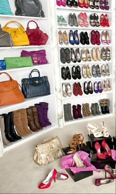 I need shelves like this for my bags