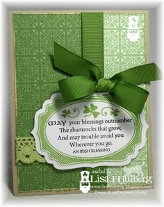 May Your Blessings Outnumber The Shamrocks That Grow St. Patrick's Day card
