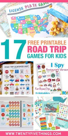 Use these free printable road trip games for kids to make your next long car ride a breeze. #Travel #FunforKids