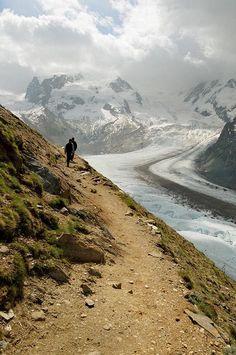 What a view! Hiking in Zermatt.