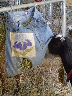 Denim reuse is rampant at the county fair! Check out these new uses for old jeans.