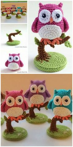 Owl Amigurumi Pattern Cutest Crochet Ideas Video Tutorial You will love this Owl Amigurumi Pattern Ideas and we have included a video tutorial to show you how. Check out all the cute versions now. Crochet Birds, Crochet Amigurumi Free Patterns, Crochet Animal Patterns, Crochet Doll Pattern, Stuffed Animal Patterns, Cute Crochet, Crochet Crafts, Crochet Projects, Crochet Ideas
