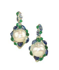 Arunashi pearl earrings #Precious_Posts @PreciousPosts