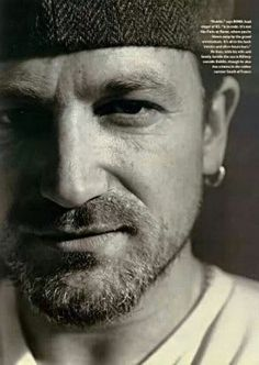 ❤️☮ #theman  Bono of #U2 -- talented, handsome, humanitarian, amazing frontman