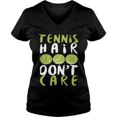 Tennis hair don care grandpa grandma dad mom girl boy guy lady men women man woman coach player - Tshirt