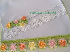 Visit the site for details. Crochet Fabric, Crochet Home, Crochet Flowers, Free Crochet, Knit Crochet, Ribon Flowers, Crochet Designs, Crochet Patterns, Diy And Crafts