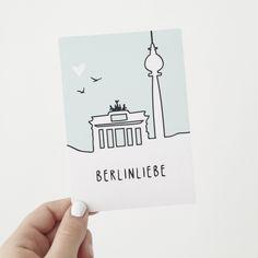 """Postkarte """"Berlinliebe"""" - odernichtoderdoch"""