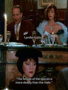 "1985  Cluedo:                               ""Do you like Kipling, Miss Scarlet?"" ""Sure, I'll eat anything."""