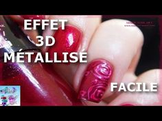 ▶ Tuto Nail Art: Roses 3D Métallisées FACILE - YouTube