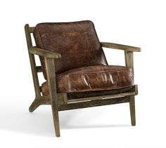 Raylan Leather Armchair | Pottery Barn - another view