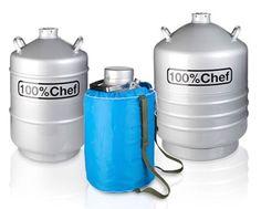 Contenedor de nitrógeno liquido. Ya disponemos de este contenedor hermético que nos permite transportar nuestro nitrógeno con toda seguridad....  3 formatos diferentes. Incluye funda térmic. Glass & Service suministros....