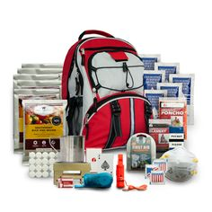 Five Day Emergency Survival Kit for One Person. Giving an individual everything they need in order to survive for five days EACH BACKPACK CONTAINS THE FOLLOWING
