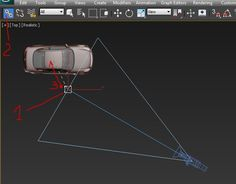 Если вы создали анимацию и хотите, чтобы камера сама следила за движущимся автомобилем (или другим объектом), то используйте инструмент «Select and Link» к цели камеры.  1. Выделяем цель камеры Target Camera 2. Нажимаем значок «Select and Link» слева вверху 3. Хватаем цель левой кнопкой мыши и переносим его на автомобиль Готово. Теперь при движении автомобиля цель камеры будет двигаться вместе в автомобилем, камера останется на месте и будет только поворачиваться. Разрушить связь можно…