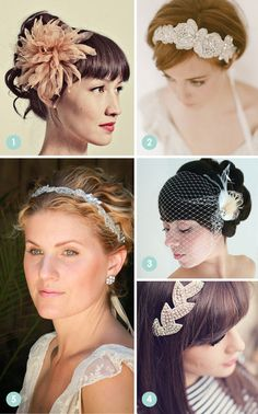 » Unique hair pieces AmieNoelDesigns on Etsy, they are beautiful : )