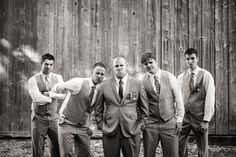 Vancouver DIY vintage Wedding at Fort Langley Hall by www.kaileymichelle.com  Photography by mattkennedy.ca  #groomsmen