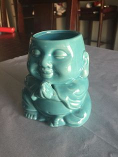 Meritage Turquoise Meditating Buddha Coffee Mug So Cute New Cute Gift   eBay
