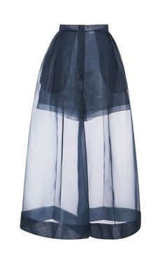 Organza Pant With Side Pleats by DELPOZO for Preorder on Moda Operandi Source by jiweil Fashion Details, Look Fashion, High Fashion, Fashion Show, Womens Fashion, Fashion Design, Mode Chic, Mode Style, Sheer Pants
