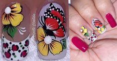 Merry Christmas Gif, Pedicure, Nail Designs, Nail Art, Nails, Color Plata, Animal, Diana, Nail Art Videos