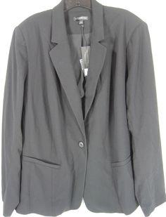 Lane Bryant Women Plus Size Blazer Size 28 Black #LaneBryant #Blazer