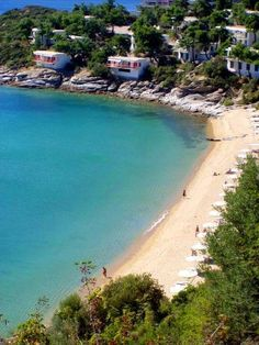 Tosca beach, Kavala, Greece one day. Places Around The World, Oh The Places You'll Go, Travel Around The World, Places To Visit, Around The Worlds, Macedonia Greece, Crete Island, Living In Europe, Greek Islands