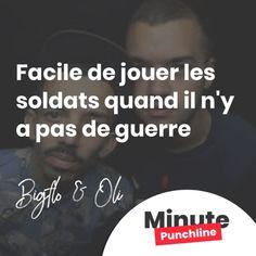 """Facile de jouer les soldats quand il n'y a pas de guerre."""" @bigfloetoli #rap #rapfr #rapfrancais #bigfloetoli #punch #punchline"""