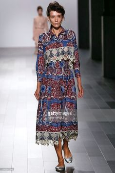 Katya Tolstova walks the runway for Francesca Liberatore Ready to Wear Spring/Summer 2018 fashion show during New York Fashion Week on September 10, 2017 in New York City.