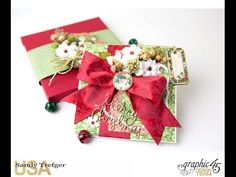 Learn how to make a holiday card and box envelope! By Sandy Trefger