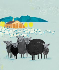 Sheep illustration by penelope (penelopeillustration.com)