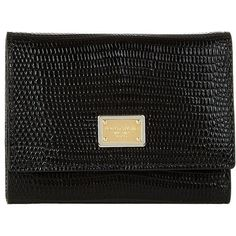 Dolce & Gabbana Iguana Print Small Leather Wallet (3.195 DKK) ❤ liked on Polyvore featuring bags and wallets