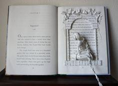 Rapunzel Book Sculpture