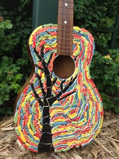 mosaic guitar. OMG so cool!!