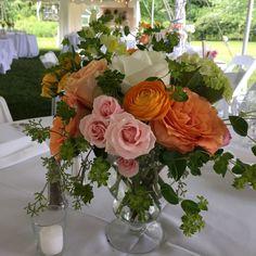 Vermont wedding, Vermont wedding flowers, Floral Artistry, Rose centerpiece