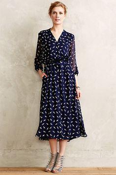 Beautiful for dress-up -has POckets!! $288 Flamingo Shirtdress - anthropologie.com