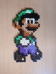 Resultado de imagen de hama beads luigi