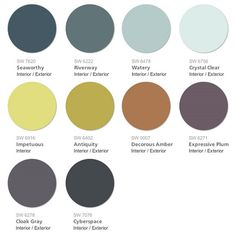 Sherwin Williams 2015 Color Forecast Voyage Palette. Reminiscent of the colors found in the furthest corners our travels; from deep sea to deep space, the Voyage palette will take you away from they typical colors of your routine and transport you into the deep. From Our Blog at Design Connection, Inc. | Kansas City Interior Design http://www.DesignConnectionInc.com/Blog #InteriorDesign